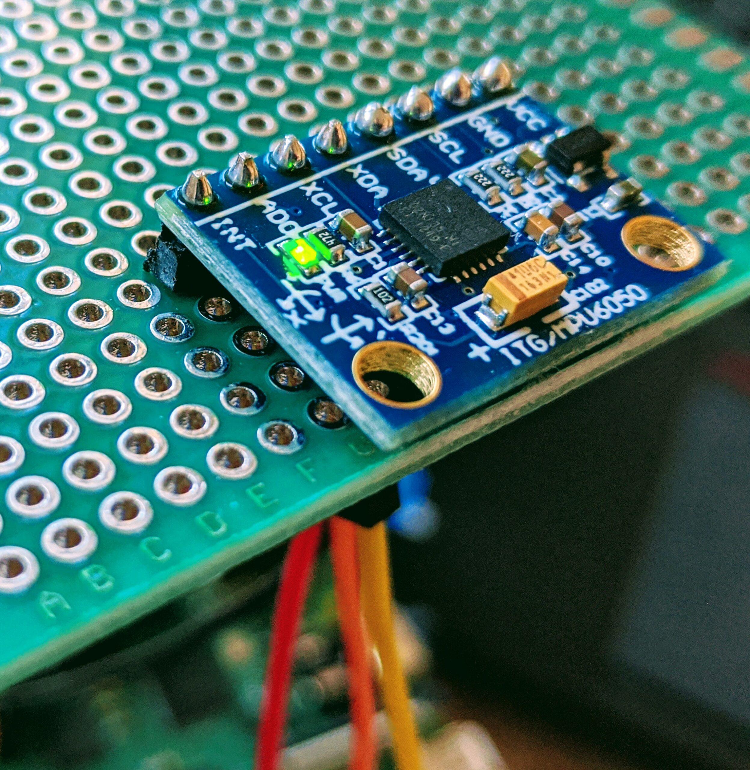 MPU-6050 connecté via i2c